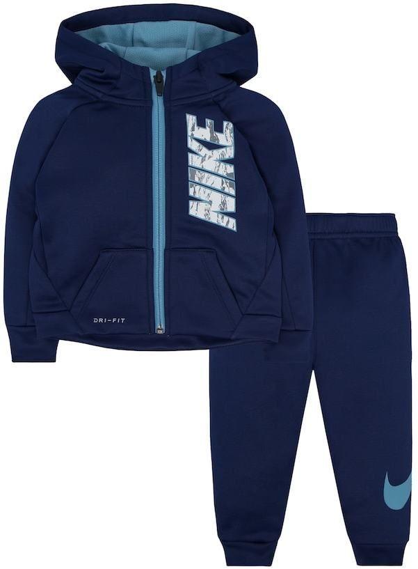 21f3b2506d753 Nike Baby Boy Therma Zip Logo Hoodie   Pants Set