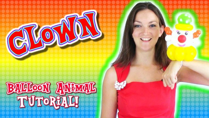 Let's make a Clown Balloon Animal! - Balloon Animal Tutorials with Holly the Twister Sister #balloon #twisting #clown