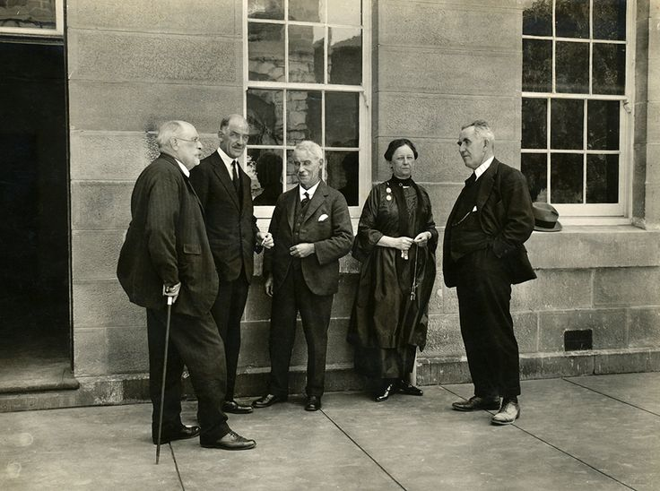 East Sydney Technical College Officials outside Building 1, 1922