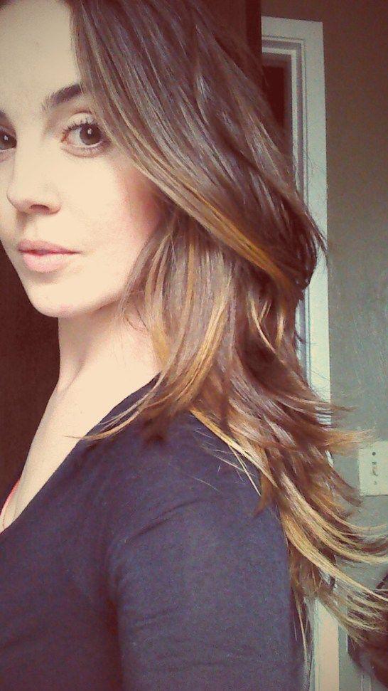 DIY layered haircut. Long layers