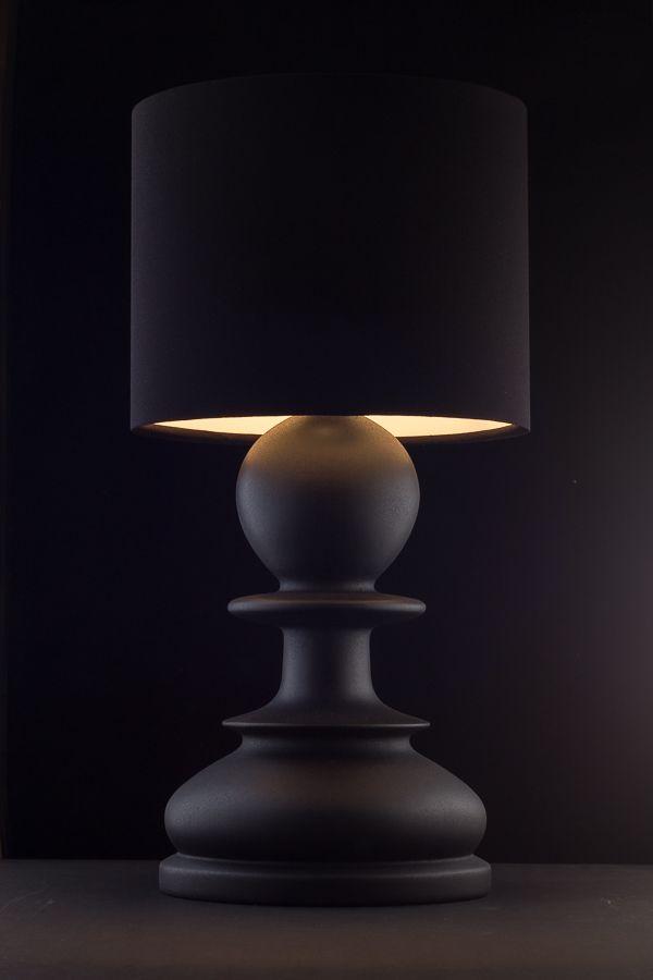 """""""Пешка"""" - стильная настольная лампа ручной работы. Изготовлена из массива ясеня, окрашена в черный матовый цвет. Абажур ручной работы, дающий мягкий рассеянный свет, в сочетании с оригинальной формой лампы оживят ваш интерьер, сделают его модным и современным. Отличный вариант для организации дополнительного освещения в спальне или гостиной. Высота - 445 мм Диаметр (макс.) - 225 мм Больше фото/заказ на нашем сайте. 2 м"""