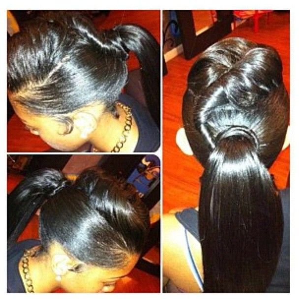 Cool 1000 Images About Buns Bangs Ponytails Amp Updos On Pinterest Short Hairstyles For Black Women Fulllsitofus