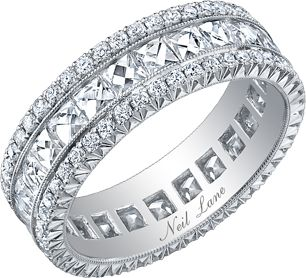 Neil Lane ~ French cut diamond and platinum band