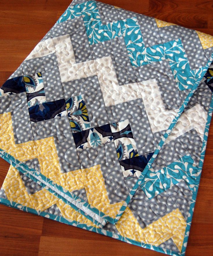 Zig Zag Quilt! No triangles!  Free Tutorial!