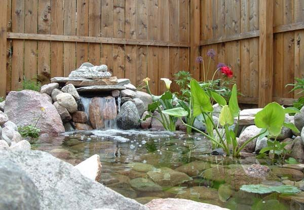 21 garden design ideas small ponds turning your backyard for Garden pond waterfall ideas