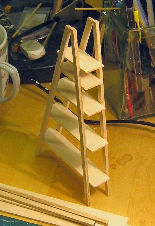 IKEA dollhouse replica (looks like chop sticks & popsicle sticks)