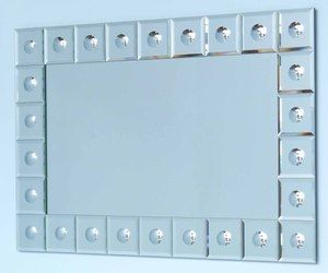 All Mirror Mirrors: Squares Dimple Framed Mirror 1200x800mm