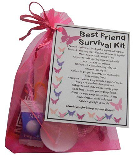 BEST FRIEND Survival Kit Gift (Great Present For Birthday