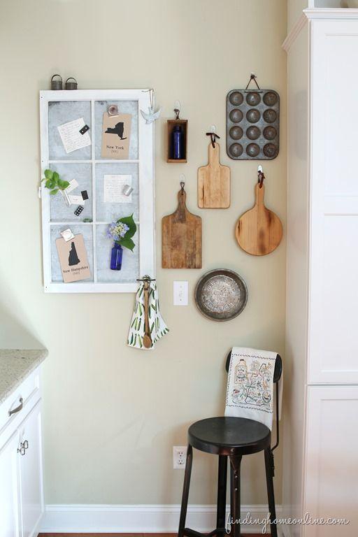Cutting board kitchen gallery wall, so cute!