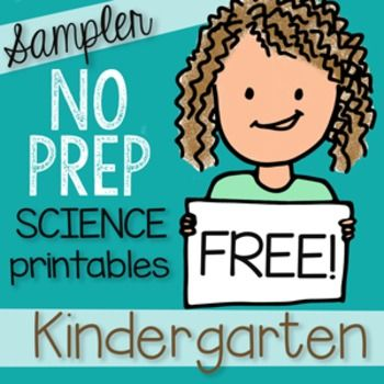 I worry that Science gets overlooked in the early grades and that is why I offer this 13 page FREEBIE SAMPLER to my:200+ Page NO PREP Science Kindergarten Printables packed with engaging ways to teach Science! Unigue drawings that help students understand concepts, TEKS and NGSS aligned.