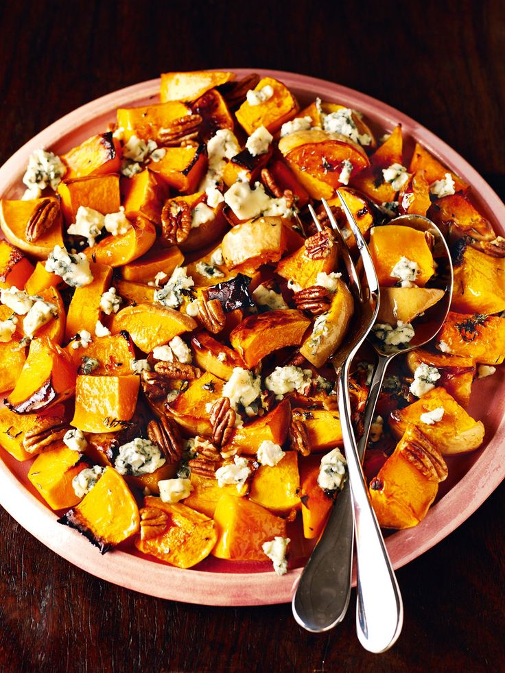 Butternut Squash With Pecans and Blue Cheese (ate at Bridie's)