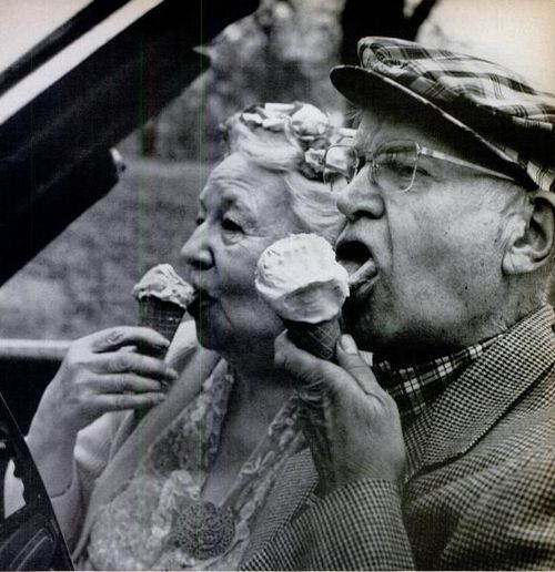 Love is in the little things, like eating ice cream together. Life Magazine, 1969