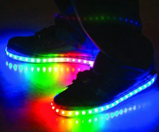 Awesome light up rainbow sneakers