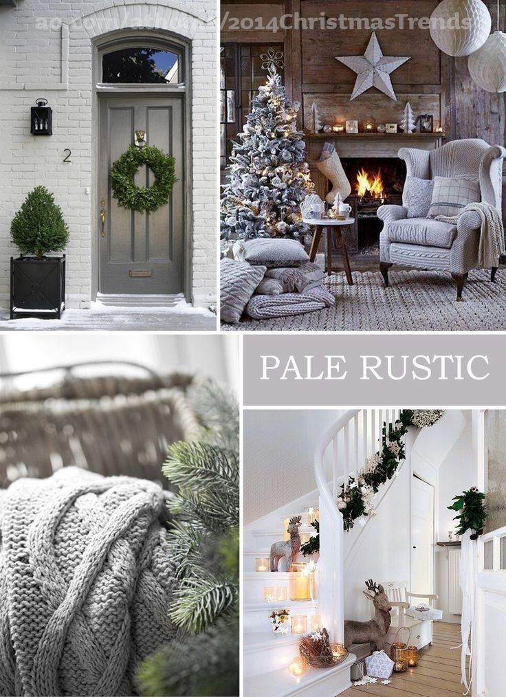 AO at Home...dreaming of a grey Christmas? Pale rustic, Scandi designs are the way to go.