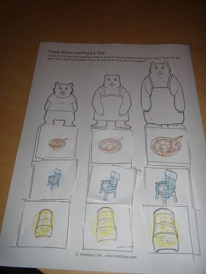 Goldilocks & the Three Bears ideas!
