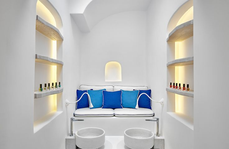Enjoy a Six Senses signature pedicure at the Six Senses Spa Mykonos!