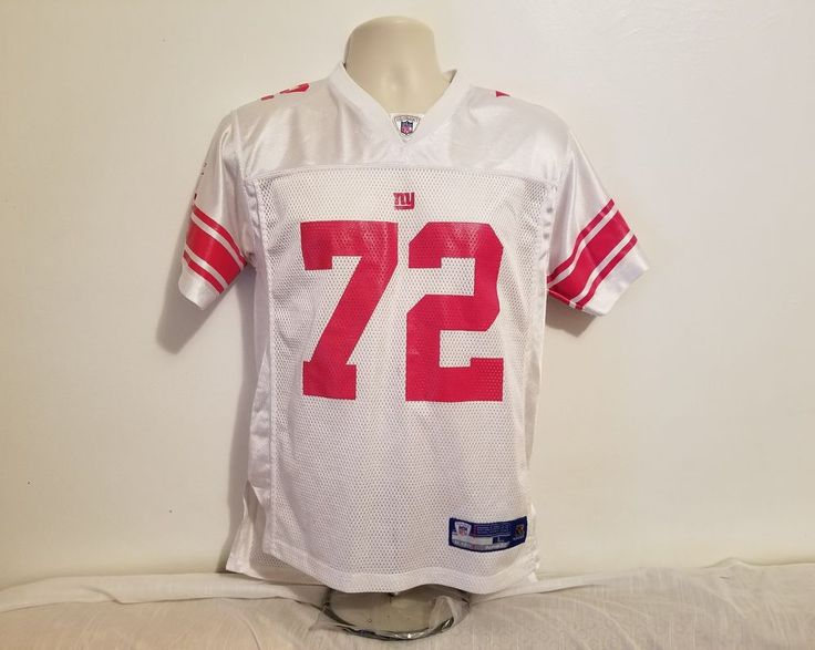 Reebok NFL Osi UMENYIORA #72 New York GIANTS Boys Large White Football Jersey #Reebok #NewYorkGiants