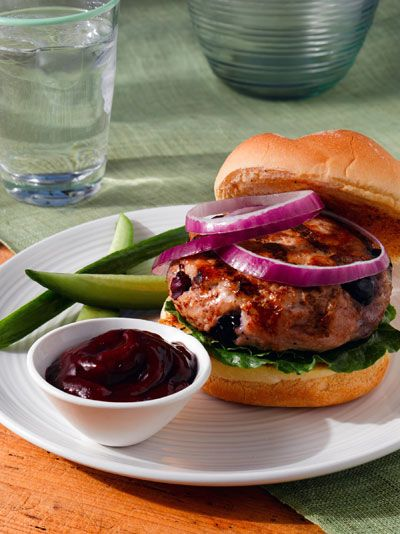 Check out our Blueberry Turkey Burgers With Blueberry Ketchup! Such a fun and unique spin on the classic burger and ketchup! #blueberrylove