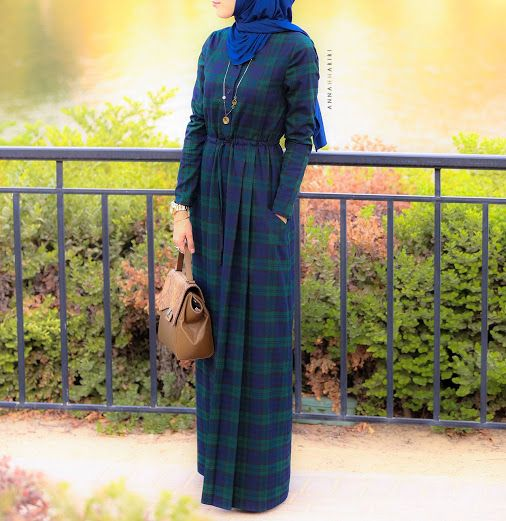 www.annahariri.com  Plaid and checkered print are in so high demand. As per your numerous requests, Plaid Casual Dress is restocked now.  For all the details including prices please visit our website www.annahariri.com We deliver worldwide.  #annahariri #maxidress #modesty #mydubai #hijab