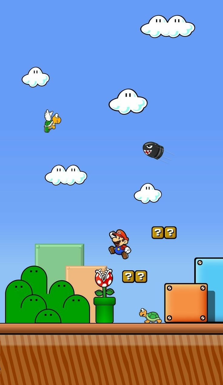 Mushroom Kingdom Wallpaper World Wallpaper Mario Bros Iphone