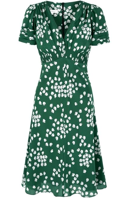Suzannah Budding heart Silk dress