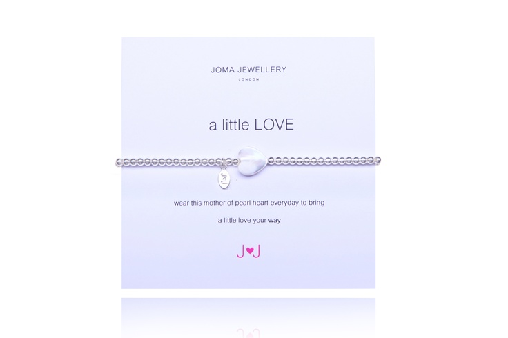 This gorgeous 'a little LOVE' bracelet from JOMA JEWELLERY is beautiful. 'wear this mother of pearl heart everyday, to bring a little love your way'
