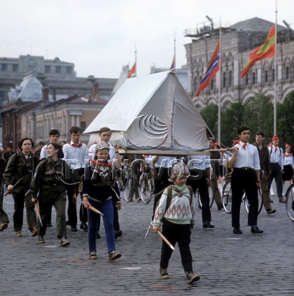 Участники демонстрации на Красной площади