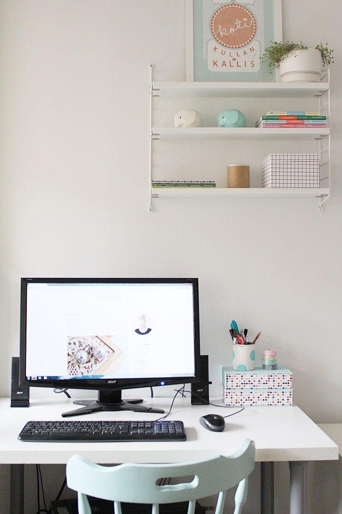 Workspace / Pastel interior / Kotisaari blog