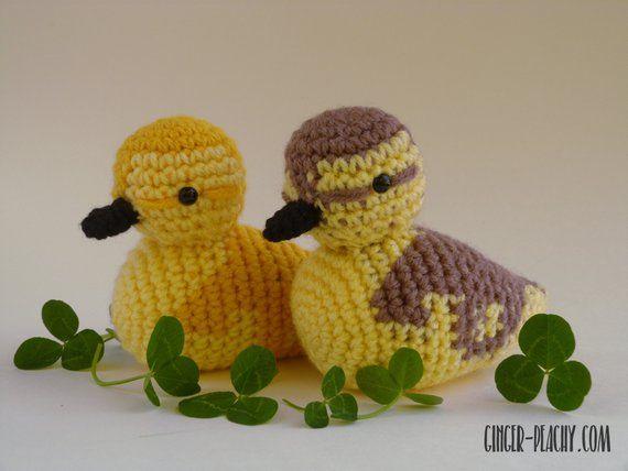 Darling Duckling Amigurumi | Crochet | Handmade | Homemade | Duck | Chick | Mall…