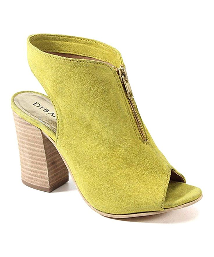 Look at this Diba Chartreuse Island Girl Suede Sandal on #zulily today!