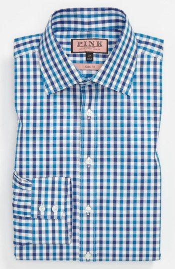 Thomas Pink Slim Fit Dress Shirt   Nordstrom