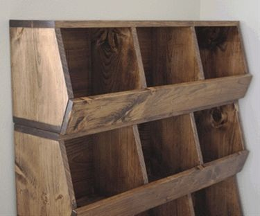 Build your own storage bins! Onions, potatoes. Or shoes and hats. Or toys and clothes. Love these! - Click image to find more Home Decor Pinterest pins