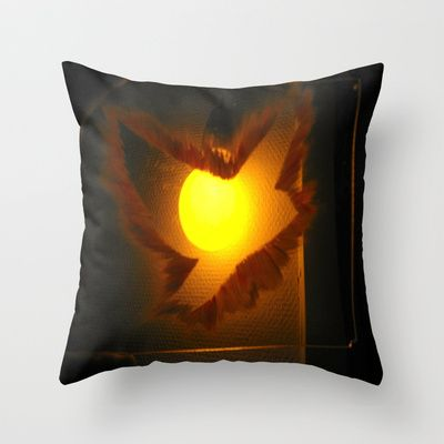 ThePeaceBombs - Light up some Peace Throw Pillow by ThePeaceBombs - $20.00 #pillows #art #artwork #shopping #home #decor #light #lamp  http://society6.com/ThePeaceBombs www.miaaw.com https://www.facebook.com/marishags