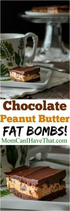 Chocolate Peanut Butter Fat Bombs made with grass fed butter are high in omega 3 fatty acids | Low carb, Keto, LCHF, THM | http://momcanihavethat.com