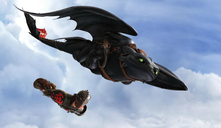 Hiccup and Toothless Flying | DreamWorks | Pinterest ...
