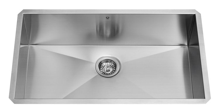 30 x 19 Undermount Single Bowl 16 Gauge Stainless Steel Kitchen Sink with Price : $ 263.92