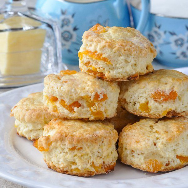 Tender little scones with great coconut flavour and sweet chunks of dried apricot baked right in. A dainty and delicious addition to afternoon tea!!