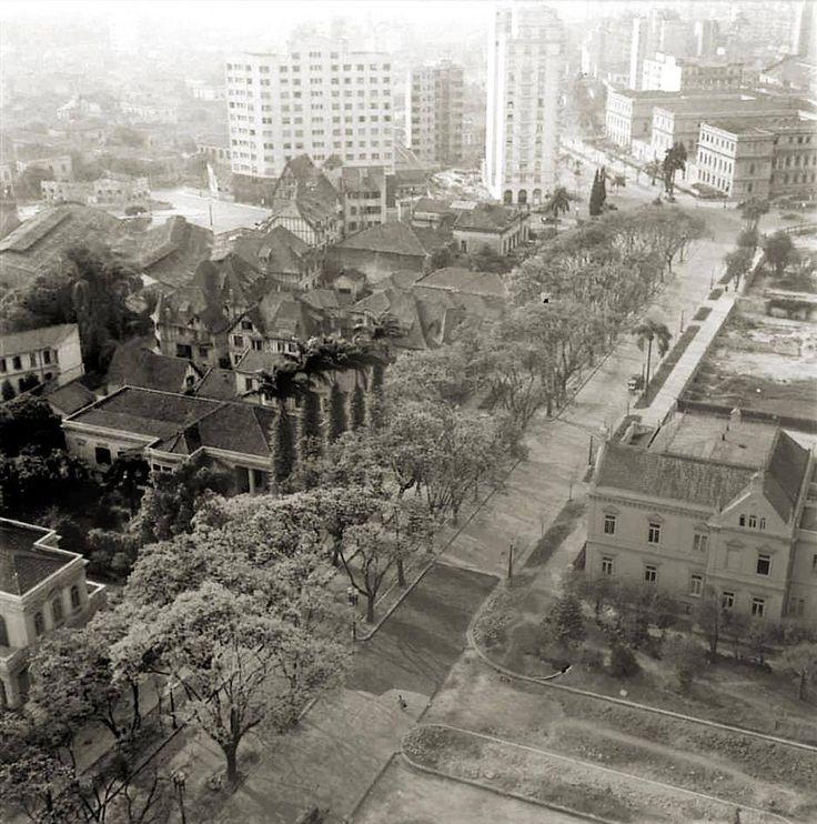 Avenida São Luís, em 1939