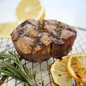 Lemon Herb Grilled Steak, a recipe from the ATCO Blue Flame Kitchen.