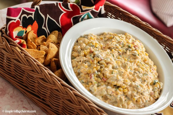 Cold Corn Dip -- Fast and Easy Appetizer to serve with Fritos Scoops