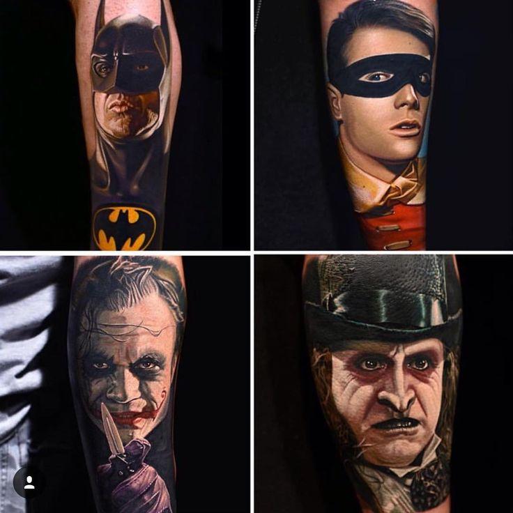 Nikko Hurtado heroes and villains portrait tattoos