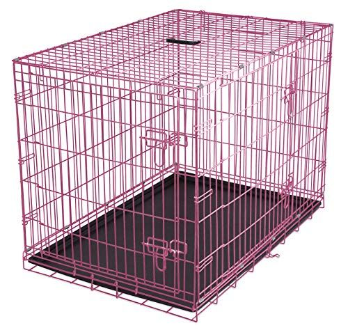 Internet S Best Double Door Steel Crates Collapsible And Https Www Amazon Com Dp B01m09g7w0 Ref Cm Sw R Pi Awdb Wire Dog Kennel Dog Kennel Dog Crate Bed