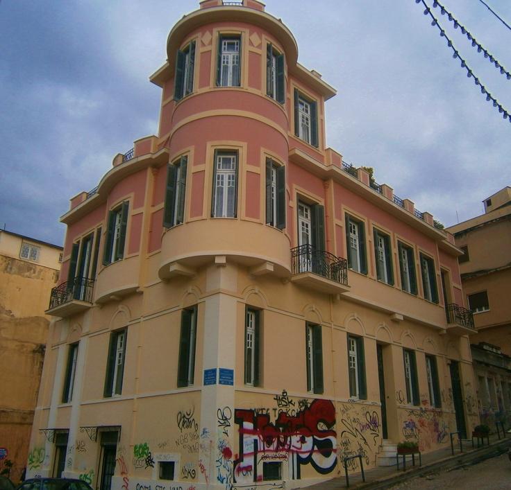 By Christina Alexopoulos, Old building Pantanassis Str. Patras Greece