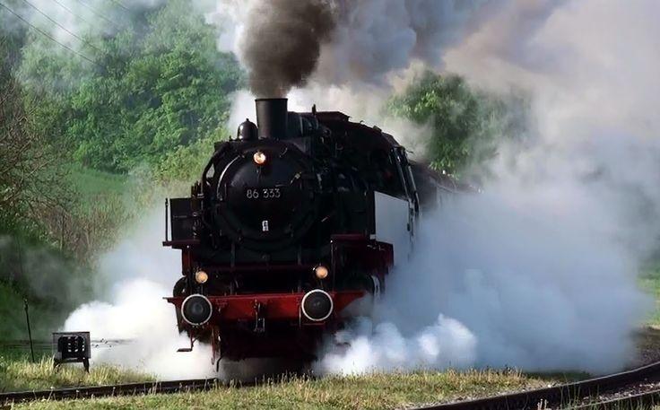 Zug der Sauschwänzlebahn Beste Dampfaction 1.Mai WTB Wutachtalbahn