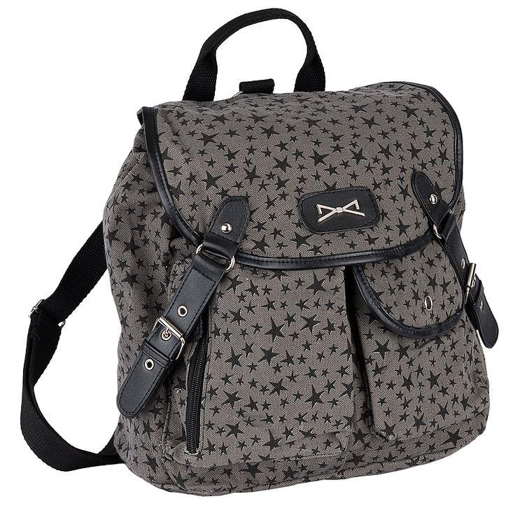 Achilleas Accessories - Προϊόντα : New Collection | FW 2014-15 / Τσάντες / Backpacks / ΤΣΑΝΤΑ ΠΛΑΤΗΣ ΓΚΡΙ ΜΕ ΑΣΤΕΡΙΑ