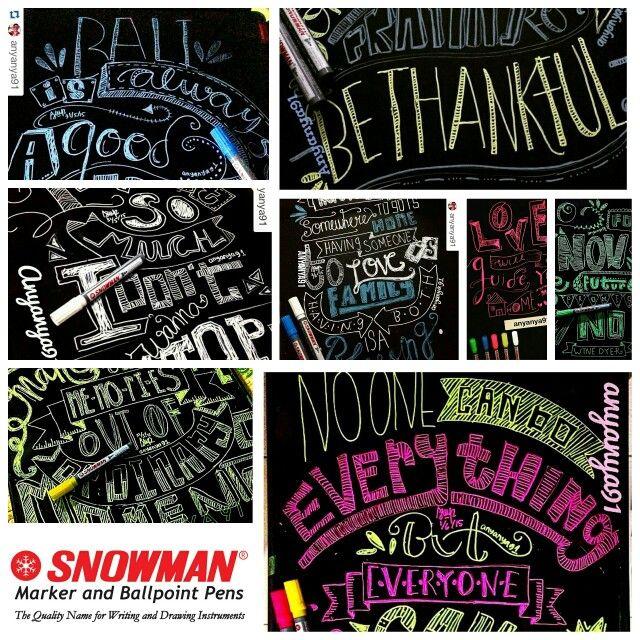 Snowman marker spidol blackboard indonesia advertising