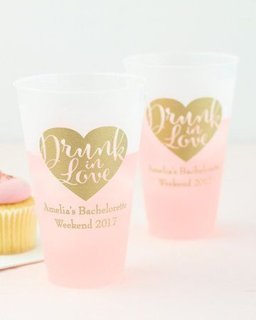 Drunk in Love | Personalized frosted cups are perfect for a fun bridal shower or bachelorette party!