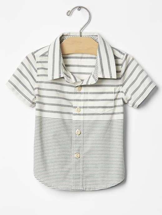 Mix-stripe shirt Product Image