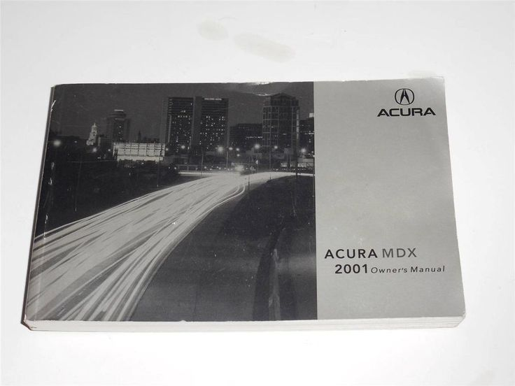 2001 Acura Mdx Owners Manual Book