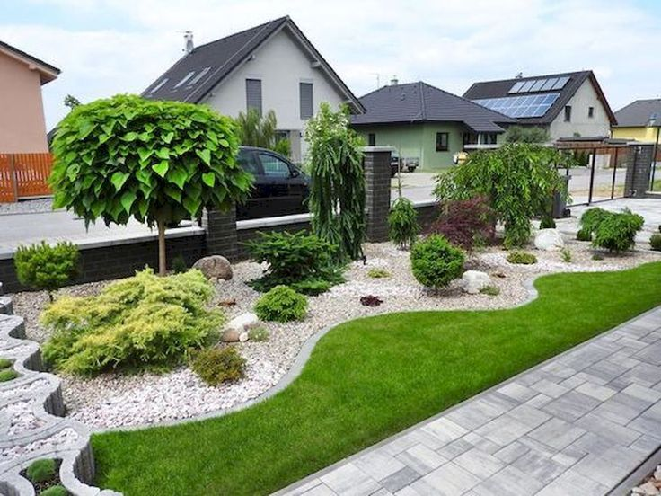 90 Einfache und schöne Vorgärten, die Ideen für ein Budget zusammenstellen (78